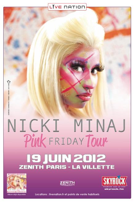 Nicki Minaj en concert à Paris en juin (prévente de billets)