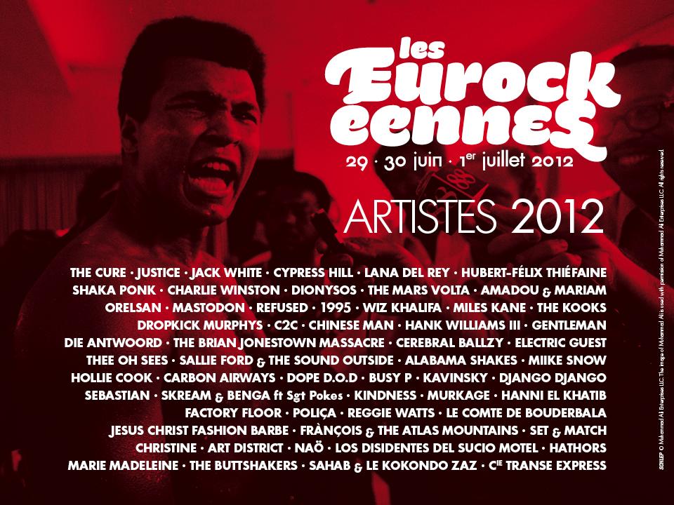 Eurockéennes 2012 : programme (Jack White, Justice, Lana Del Rey, Orelsan, Cypress Hill...)