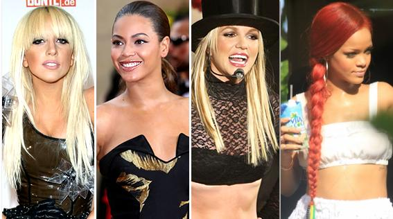 Beyonce, Rihanna, Britney et Gaga élues chanteuses les plus sexy