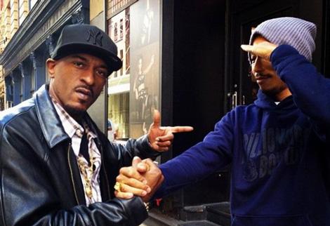 Rakim en studio avec Pharrell Williams