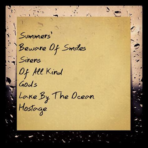 Maxwell : tracklist de l'album Summers'