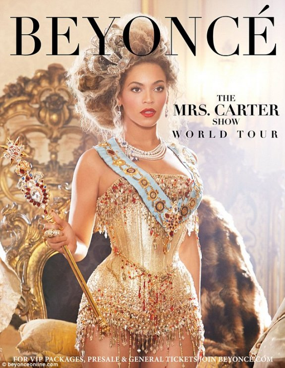 Beyonce en concert en France en avril (Mrs Carter Show World Tour)