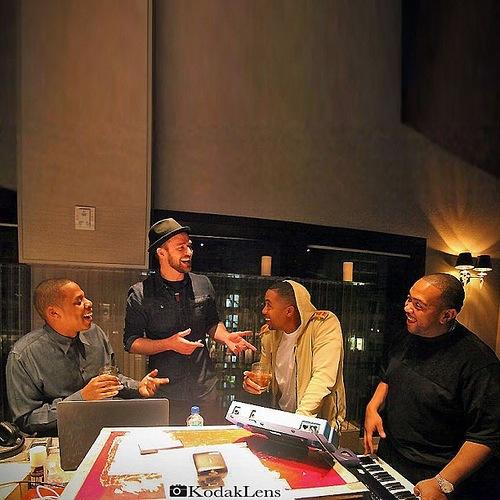 Jay-Z, Nas, Timbaland et Timberlake en studio ensemble (photo)