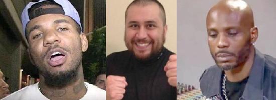 George Zimmerman VS Game, DMX ou Kanye West ?