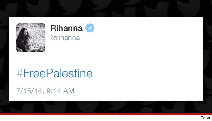 Rihanna tweete #FreePalestine
